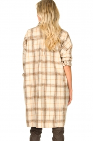 JC Sophie |  Checkered wool blouse Emmylou | beige  | Picture 6