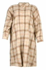 JC Sophie |  Checkered wool blouse Emmylou | beige  | Picture 1