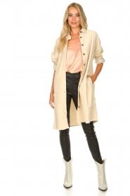 JC Sophie |  Corduroy blouse Effie | beige  | Picture 3