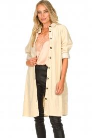 JC Sophie |  Corduroy blouse Effie | beige  | Picture 4