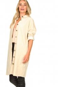 JC Sophie |  Corduroy blouse Effie | beige  | Picture 5