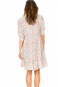 Notes Du Nord |  Ruffle dress with floral print Violet | white  | Picture 7