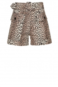 Notes Du Nord |  Leopard printed short with belt Vicky | animal print  | Picture 1