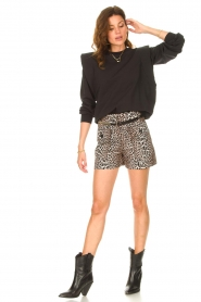 Notes Du Nord |  Leopard printed short with belt Vicky | animal print  | Picture 5