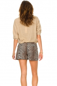 Notes Du Nord |  Leopard printed short with belt Vicky | animal print  | Picture 8