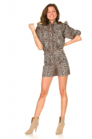 Notes Du Nord |  Leopard printed short with belt Vicky | animal print  | Picture 4