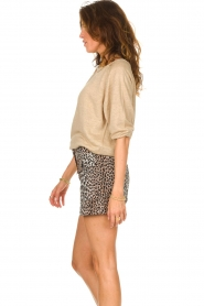 Notes Du Nord |  Leopard printed short with belt Vicky | animal print  | Picture 7