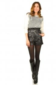 ba&sh |  Leather shorts Kate | black  | Picture 3