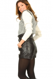 ba&sh |  Leather shorts Kate | black  | Picture 5