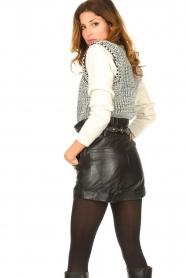 ba&sh |  Leather shorts Kate | black  | Picture 6