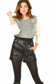 ba&sh |  Leather shorts Kate | black  | Picture 2