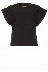 ba&sh |  Top with padded shoulders Elix | black  | Picture 1
