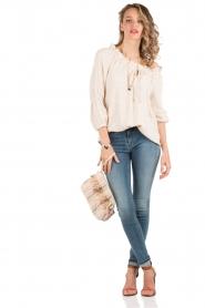 Denham | High waisted skinny jeans Spray YDF lengtemaat 32 | blauw  | Afbeelding 3