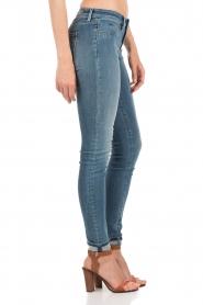 Denham | High waisted skinny jeans Spray YDF lengtemaat 32 | blauw  | Afbeelding 4