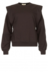 Notes Du Nord |  Sweater with ruffles Simone | black  | Picture 1