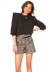 Notes Du Nord    Sweater with ruffles Simone   black    Picture 4