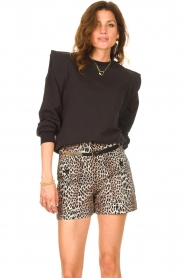Notes Du Nord    Sweater with ruffles Simone   black    Picture 2