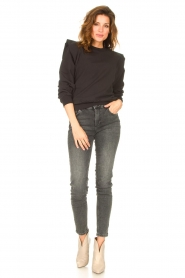 Notes Du Nord |  Sweater with ruffles Simone | black  | Picture 3