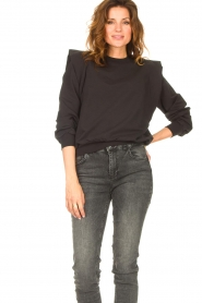 Notes Du Nord |  Sweater with ruffles Simone | black  | Picture 4