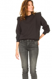 Notes Du Nord |  Sweater with ruffles Simone | black  | Picture 5