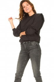 Notes Du Nord |  Sweater with ruffles Simone | black  | Picture 6