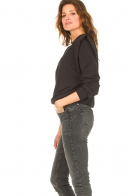 Notes Du Nord |  Sweater with ruffles Simone | black  | Picture 7