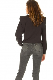 Notes Du Nord |  Sweater with ruffles Simone | black  | Picture 8