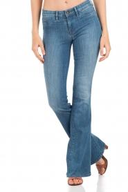 Denham | High waisted flared jeans Farrah YSNL lengtemaat 34 | blauw  | Afbeelding 2