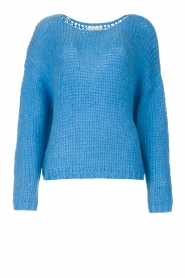 Les Favorites |  Knitted sweater with lurex Sky | blue  | Picture 1