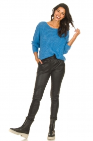Les Favorites |  Knitted sweater with lurex Sky | blue  | Picture 3