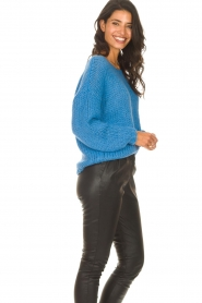 Les Favorites |  Knitted sweater with lurex Sky | blue  | Picture 6