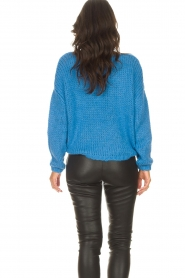 Les Favorites |  Knitted sweater with lurex Sky | blue  | Picture 7