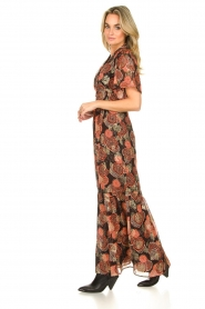 ba&sh |  Maxi dress with lurex Hilde | black  | Picture 5