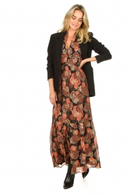 ba&sh |  Maxi dress with lurex Hilde | black  | Picture 3