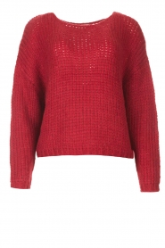 Les Favorites |  Knitted sweater with lurex Sky | red  | Picture 1
