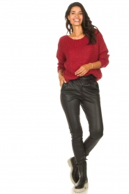 Les Favorites |  Knitted sweater with lurex Sky | red  | Picture 3
