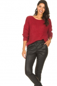 Les Favorites |  Knitted sweater with lurex Sky | red  | Picture 2