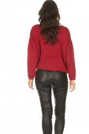 Les Favorites |  Knitted sweater with lurex Sky | red  | Picture 6