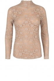 Kanten Turtleneck top Jaclyn | taupe