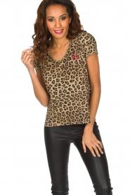 Set | T-shirt met panterprint Star | dierenprint  | Afbeelding 2