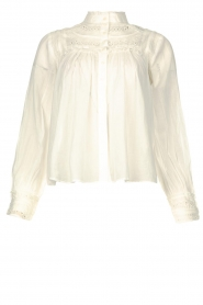 ba&sh |  Broderie blouse Leaf | white  | Picture 1