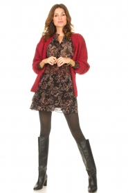 Les Favorites |  Knitted cardigan Robbie | red  | Picture 3