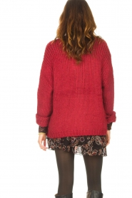 Les Favorites |  Knitted cardigan Robbie | red  | Picture 7