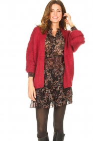 Les Favorites |  Knitted cardigan Robbie | red  | Picture 2