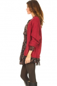 Les Favorites |  Knitted cardigan Robbie | red  | Picture 6