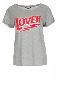 Set | 100% katoenen T-shirt Lover | grijs  | Afbeelding 1