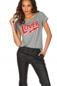 Set | 100% katoenen T-shirt Lover | grijs  | Afbeelding 2
