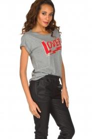Set | 100% katoenen T-shirt Lover | grijs  | Afbeelding 3