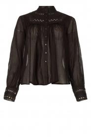 ba&sh |  Broderie blouse Leaf | black  | Picture 1