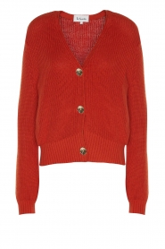 Les Favorites |  Knitted cardigan with buttons Sienna | red  | Picture 1